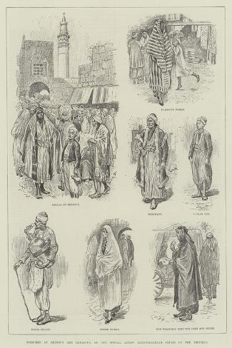 Sketches at Beyrout and Damascus-William Douglas Almond-Stretched Canvas Print