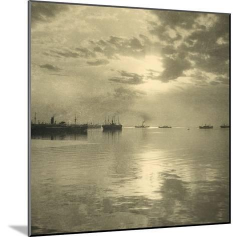 The First Troopships Carrying Australian and New Zealand Soldiers-William Fell-Mounted Giclee Print