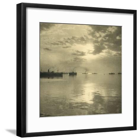The First Troopships Carrying Australian and New Zealand Soldiers-William Fell-Framed Art Print