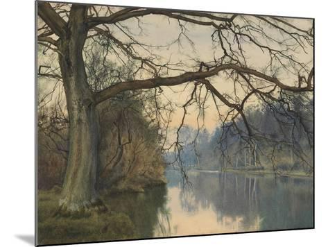 A Great Tree on a Riverbank, 1892 (Pencil, Pen and Black Ink and W/C on Paper)-William Fraser Garden-Mounted Giclee Print