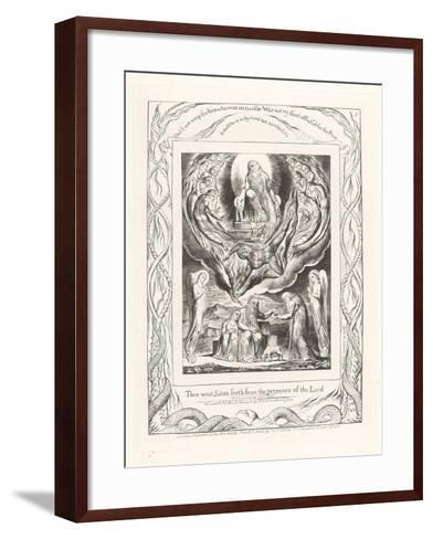 Then Went Satan Forth from the Presence of the Lord, 1825-William Blake-Framed Art Print