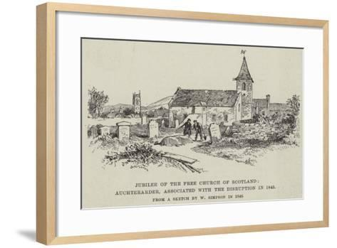 Jubilee of the Free Church of Scotland, Auchterarder, Associated with the Disruption in 1843-William 'Crimea' Simpson-Framed Art Print