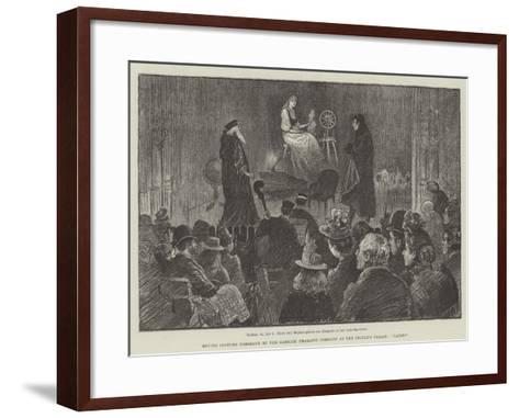 Moving Costume Tableaux by the Garrick Dramatic Company at the People's Palace, Faust-William Douglas Almond-Framed Art Print