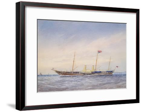 The Royal Yacht Osbourne, 1876-William Frederick Mitchell-Framed Art Print