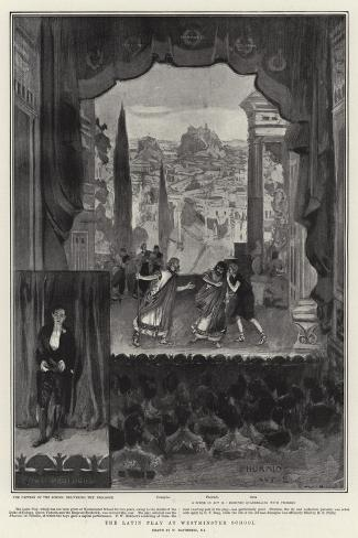 The Latin Play at Westminster School-William Hatherell-Stretched Canvas Print