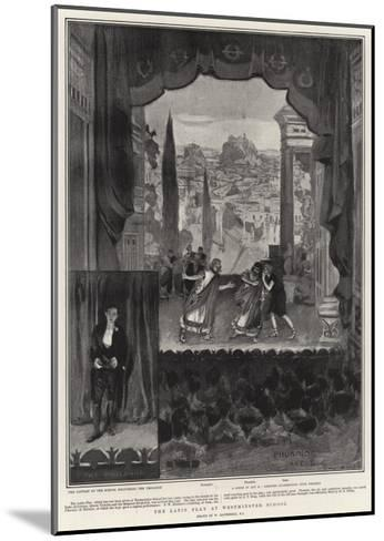 The Latin Play at Westminster School-William Hatherell-Mounted Giclee Print