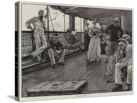 Life at Sea on an Australian Liner-William Hatherell-Stretched Canvas Print