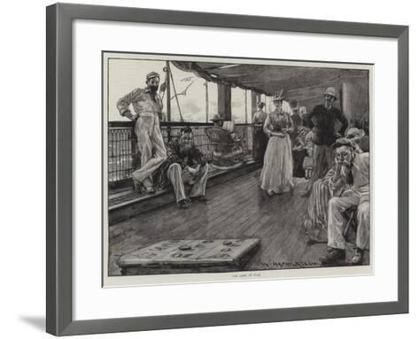 Life at Sea on an Australian Liner-William Hatherell-Framed Art Print