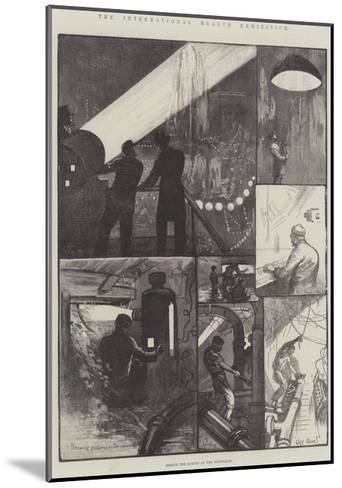 The International Health Exhibition, Behind the Scenes at the Fountains-William Bazett Murray-Mounted Giclee Print