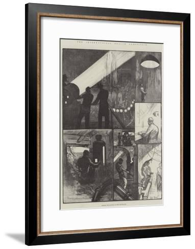 The International Health Exhibition, Behind the Scenes at the Fountains-William Bazett Murray-Framed Art Print