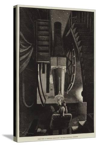 Night Work at Greenwich Observatory, the Great Equatorial Telescope-William Bazett Murray-Stretched Canvas Print