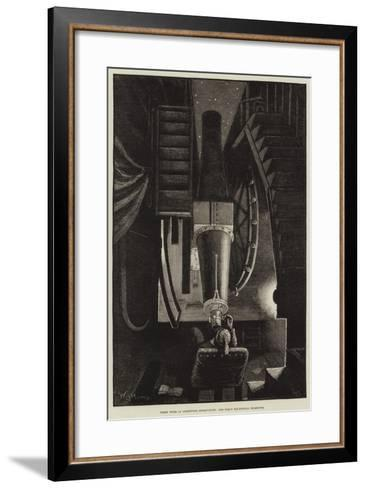 Night Work at Greenwich Observatory, the Great Equatorial Telescope-William Bazett Murray-Framed Art Print