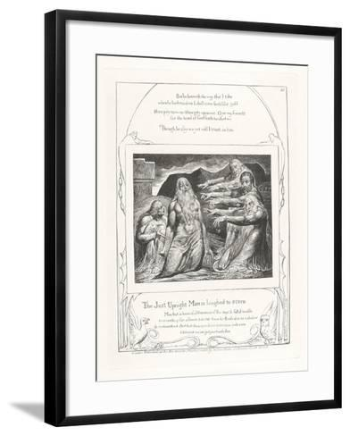 The Just Upright Man Is Laughed to Scorn, 1825-William Blake-Framed Art Print