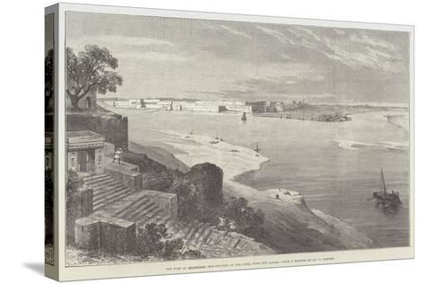 The Fort of Allahabad, and Junction of the Jumna with the Ganges-William 'Crimea' Simpson-Stretched Canvas Print