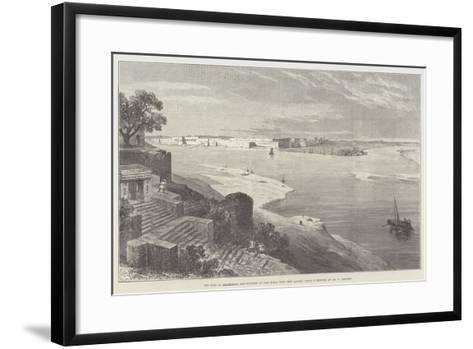 The Fort of Allahabad, and Junction of the Jumna with the Ganges-William 'Crimea' Simpson-Framed Art Print