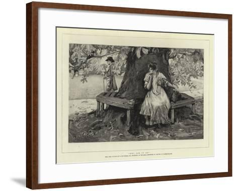 Who Can it Be?-William Hatherell-Framed Art Print