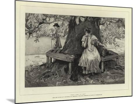 Who Can it Be?-William Hatherell-Mounted Giclee Print