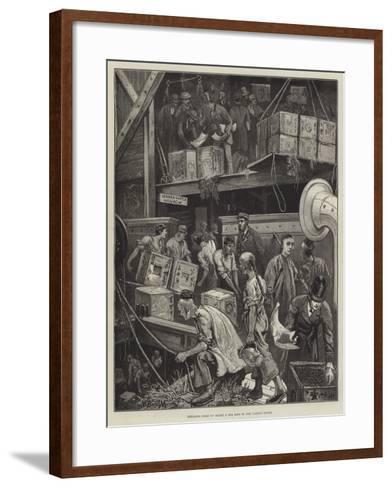 Breaking Bulk on Board a Tea Ship in the London Docks-William Bazett Murray-Framed Art Print
