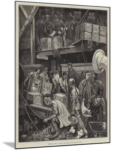 Breaking Bulk on Board a Tea Ship in the London Docks-William Bazett Murray-Mounted Giclee Print