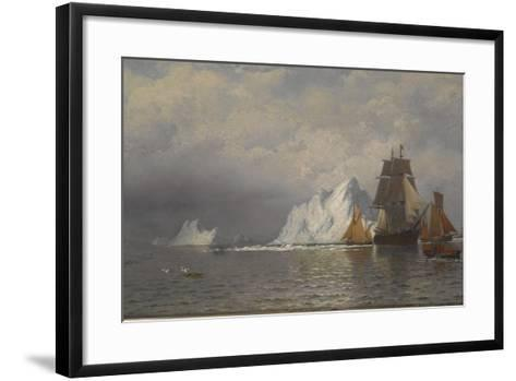 Whaler and Fishing Vessels Near the Coast of Labrador, C.1880-William Bradford-Framed Art Print