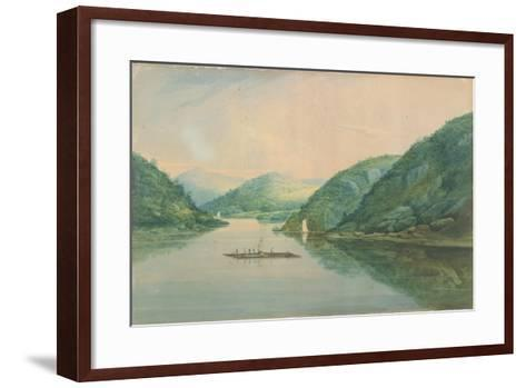 View Near Fort Montgomery, New York, 1820-William Guy Wall-Framed Art Print