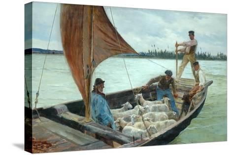 A Breezy Crossing, 1893-William H. Bartlett-Stretched Canvas Print