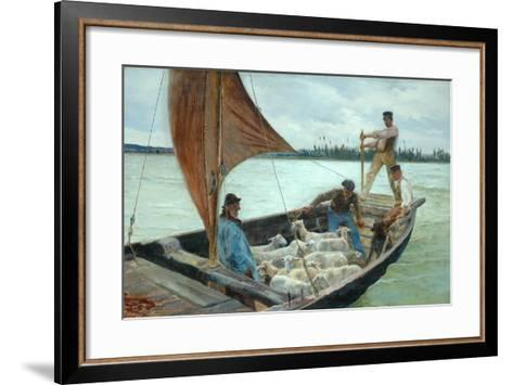 A Breezy Crossing, 1893-William H. Bartlett-Framed Art Print