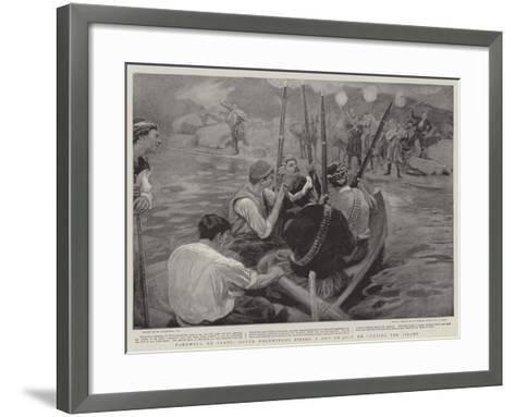 Farewell to Crete, Greek Volunteers Firing a Feu De Joie on Leaving the Island-William Hatherell-Framed Art Print