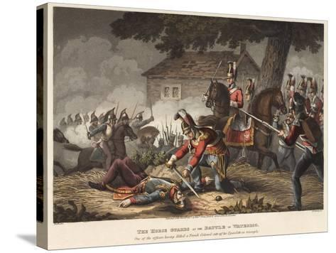 The Horse (Life) Guards at the Battle of Waterloo-William Heath-Stretched Canvas Print