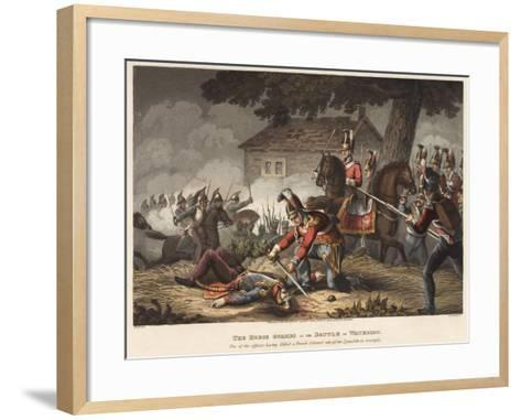 The Horse (Life) Guards at the Battle of Waterloo-William Heath-Framed Art Print