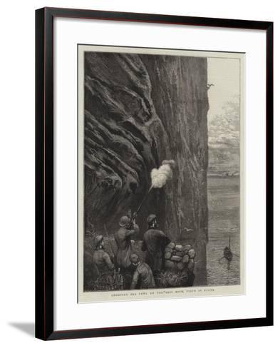 Shooting Sea Fowl on the Bass Rock, Firth of Forth-William Bazett Murray-Framed Art Print
