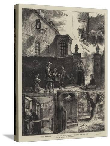 The Present State of the Hogarth's House, Chiswick-William Bazett Murray-Stretched Canvas Print