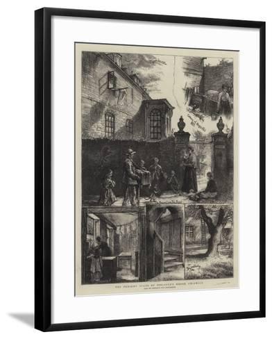 The Present State of the Hogarth's House, Chiswick-William Bazett Murray-Framed Art Print