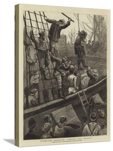 Easter-Tide Ceremonies, Flogging Judas Iscariot-William Bazett Murray-Stretched Canvas Print