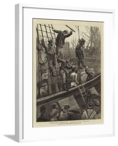 Easter-Tide Ceremonies, Flogging Judas Iscariot-William Bazett Murray-Framed Art Print