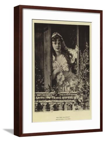 On the Balcony-William Brint Turner-Framed Art Print
