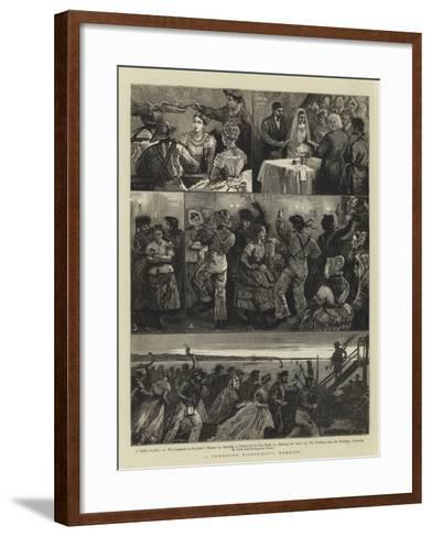 A Newhaven Fisherman's Wedding-William Bazett Murray-Framed Art Print