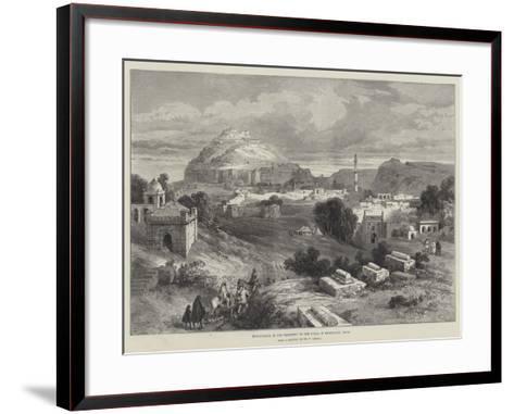 Dowlutabad, in the Territory of the Nizam of Hyderabad, India-William 'Crimea' Simpson-Framed Art Print