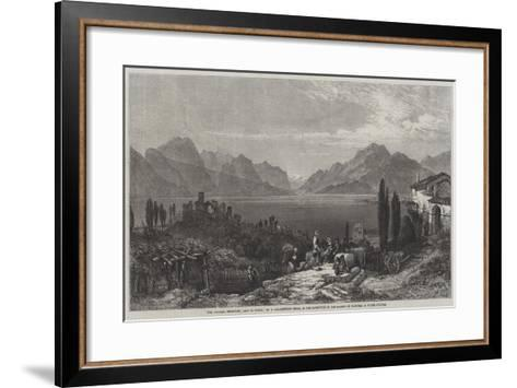 The Vintage, Desenzano, Lago Di Garda-William Harding Collingwood-Smith-Framed Art Print