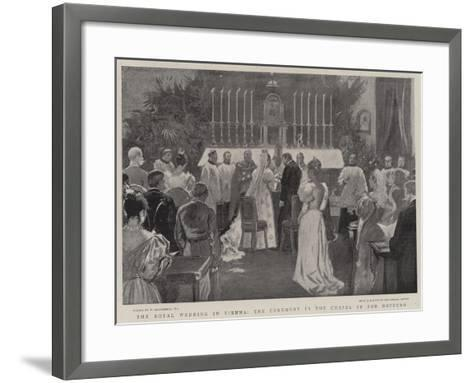 The Royal Wedding in Vienna, the Ceremonial in the Chapel of the Hofburg-William Hatherell-Framed Art Print