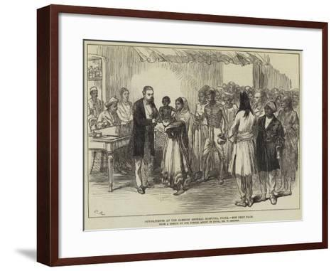 Out-Patients at the Sassoon General Hospital, Poona-William 'Crimea' Simpson-Framed Art Print