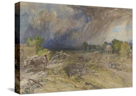 Dust Storm Coming On, Near Jaipur Rajputana, 1863-William 'Crimea' Simpson-Stretched Canvas Print