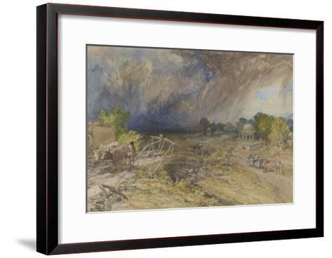 Dust Storm Coming On, Near Jaipur Rajputana, 1863-William 'Crimea' Simpson-Framed Art Print