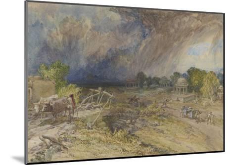 Dust Storm Coming On, Near Jaipur Rajputana, 1863-William 'Crimea' Simpson-Mounted Giclee Print