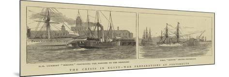 The Crisis in Egypt, War Preparations at Portsmouth-William Edward Atkins-Mounted Giclee Print