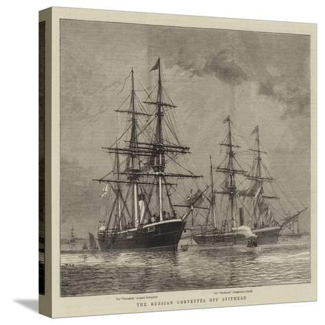The Russian Corvettes Off Spithead-William Edward Atkins-Stretched Canvas Print
