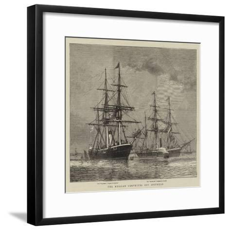 The Russian Corvettes Off Spithead-William Edward Atkins-Framed Art Print