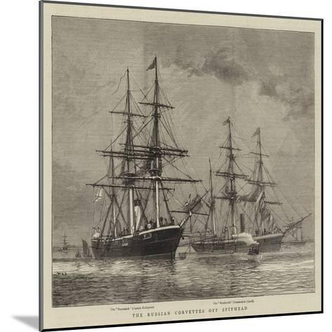 The Russian Corvettes Off Spithead-William Edward Atkins-Mounted Giclee Print