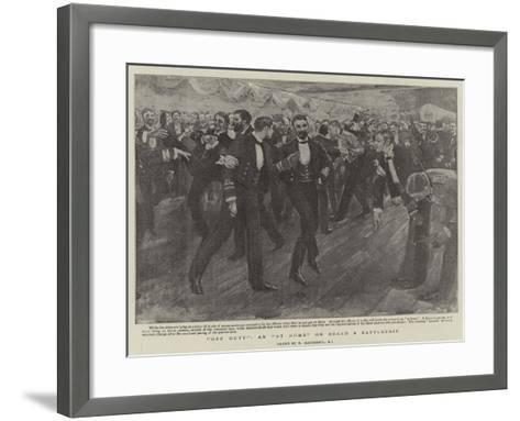 Off Duty, an At Home on Board a Battleship-William Hatherell-Framed Art Print