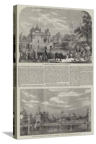 Holy Tank and Temple of the Sikhs-William Carpenter-Stretched Canvas Print